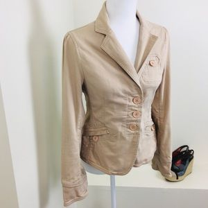 Marc Jacobs Camel Button Pocket Blazer Jacket